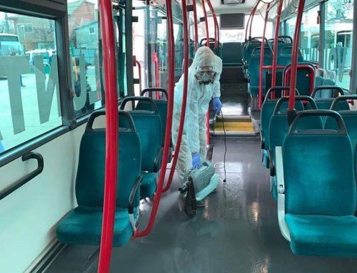 VIDEO – Decontaminare autobuze STV