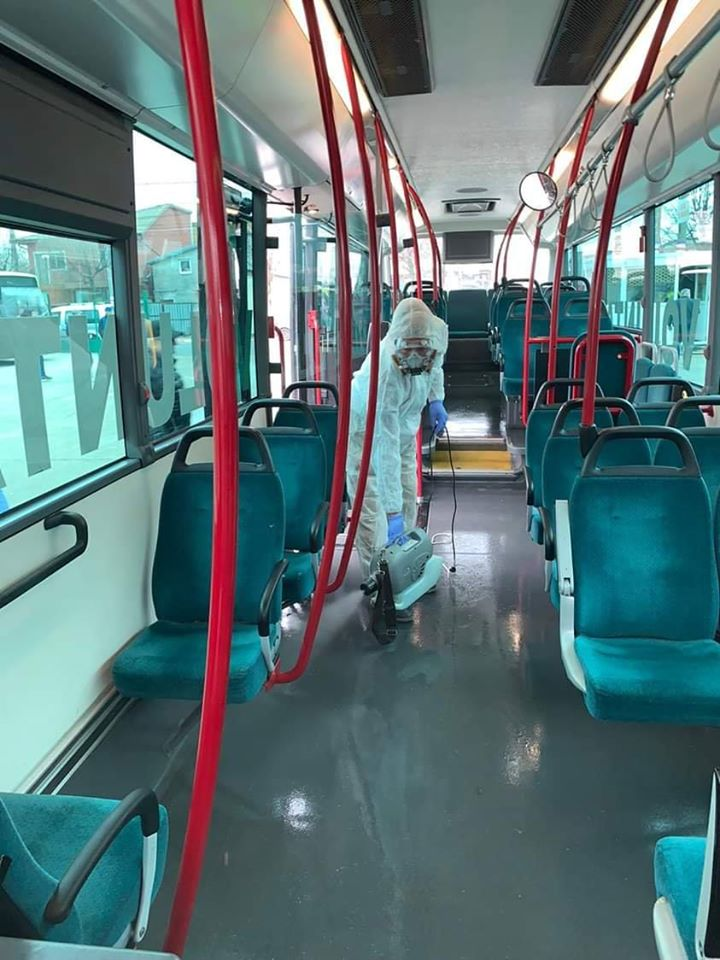 Decontaminare autobuze STV