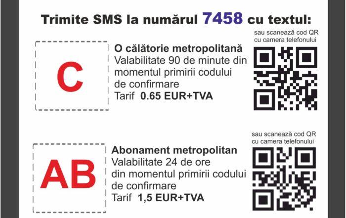 PLATA PRIN SMS A TITLURILOR DE CALATORIE
